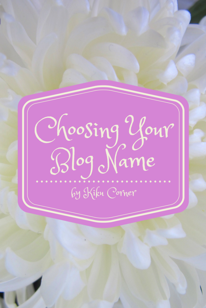 Choosing Your Blog Name