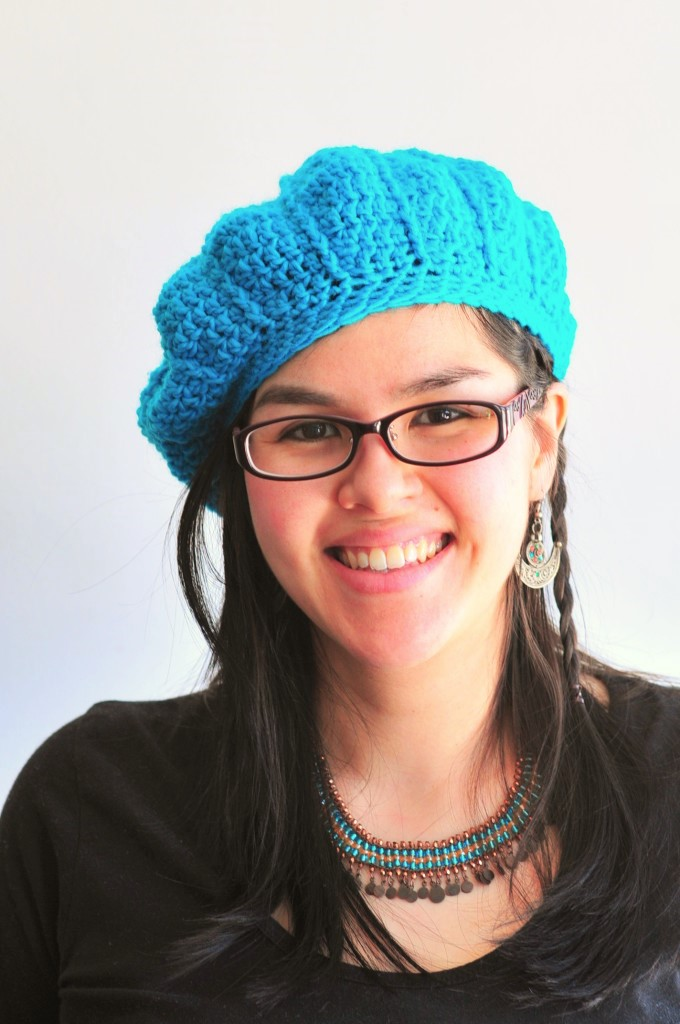 Free Crochet Beanie Beret Pattern : DIY: Crochet Cable Beret and Free Pattern Kiku Corner