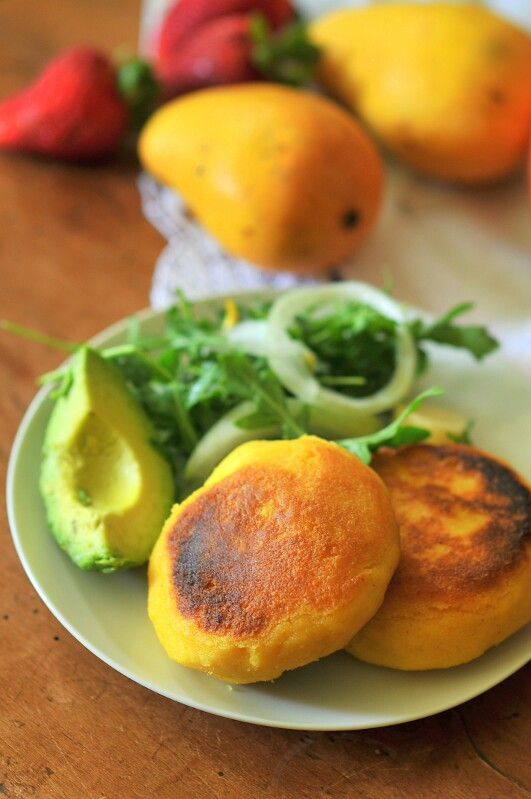 Arepas: Colombian Corn and Cheese Patties | Kiku Corner