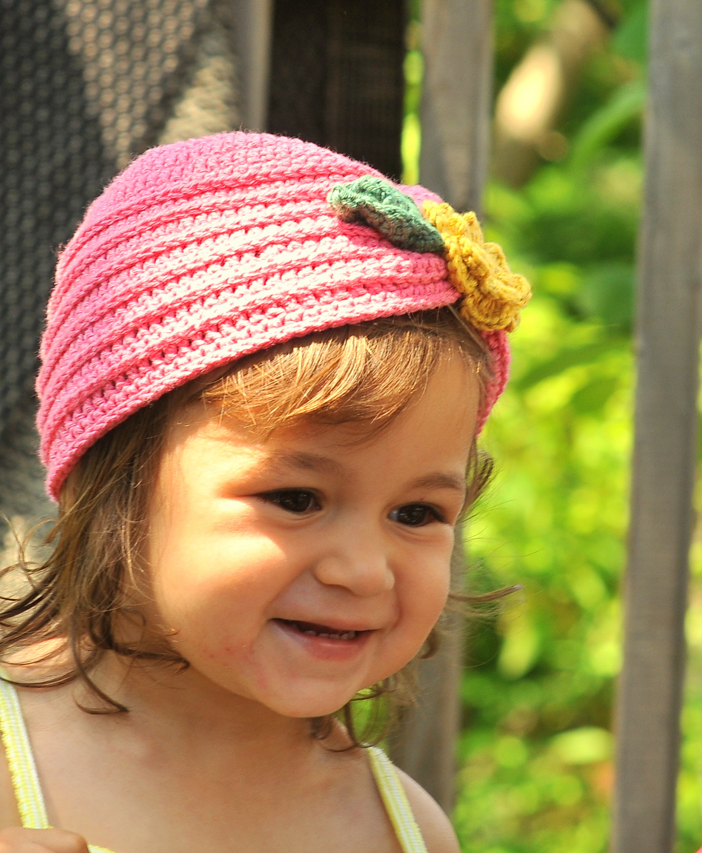 Free Crochet Hat Patterns For 1 Year Old : DIY: Crochet Toddler Turban with Flower and Free Pattern ...
